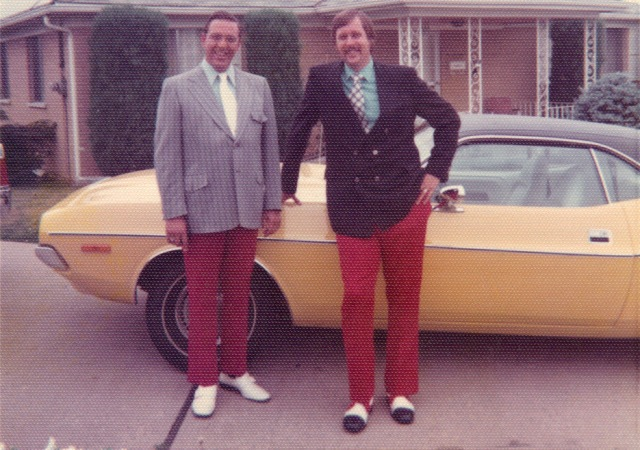 Top Banana Yellow Challenger and red pants.